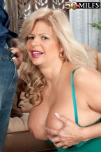 Big bouncy bosoms, pierced vagina, anal and a creampie, likewise!