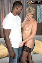 Tracy Licks dark shlong at the nudist resort