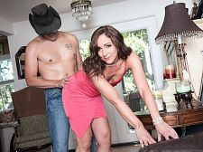 Once in a blue moon, Natalie receives ass-fucked on-camera