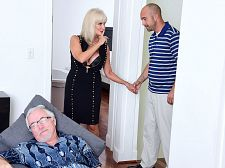 64-year-old Leah screws. Her hubby watches.