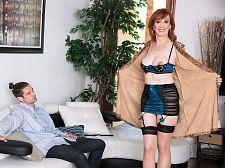 Diamond is 64. The ladies man she is rogering is 24.