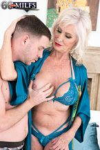 Leah can not prevent banging young cock!