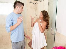 Brandii takes a shower with her son's best friend