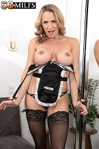 The French maid MILF and her fuck toys